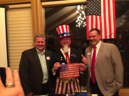 Photo: Sid at the Deschutes Lincoln Day Dinner with Deschutes County Commissioner Tony DeBone.
