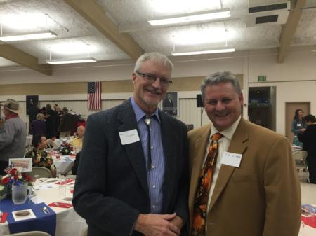 Photo: Sid with Rep. Carl Wilson (R-Grants Pass) at the Josephine Lincoln Day Dinner.
