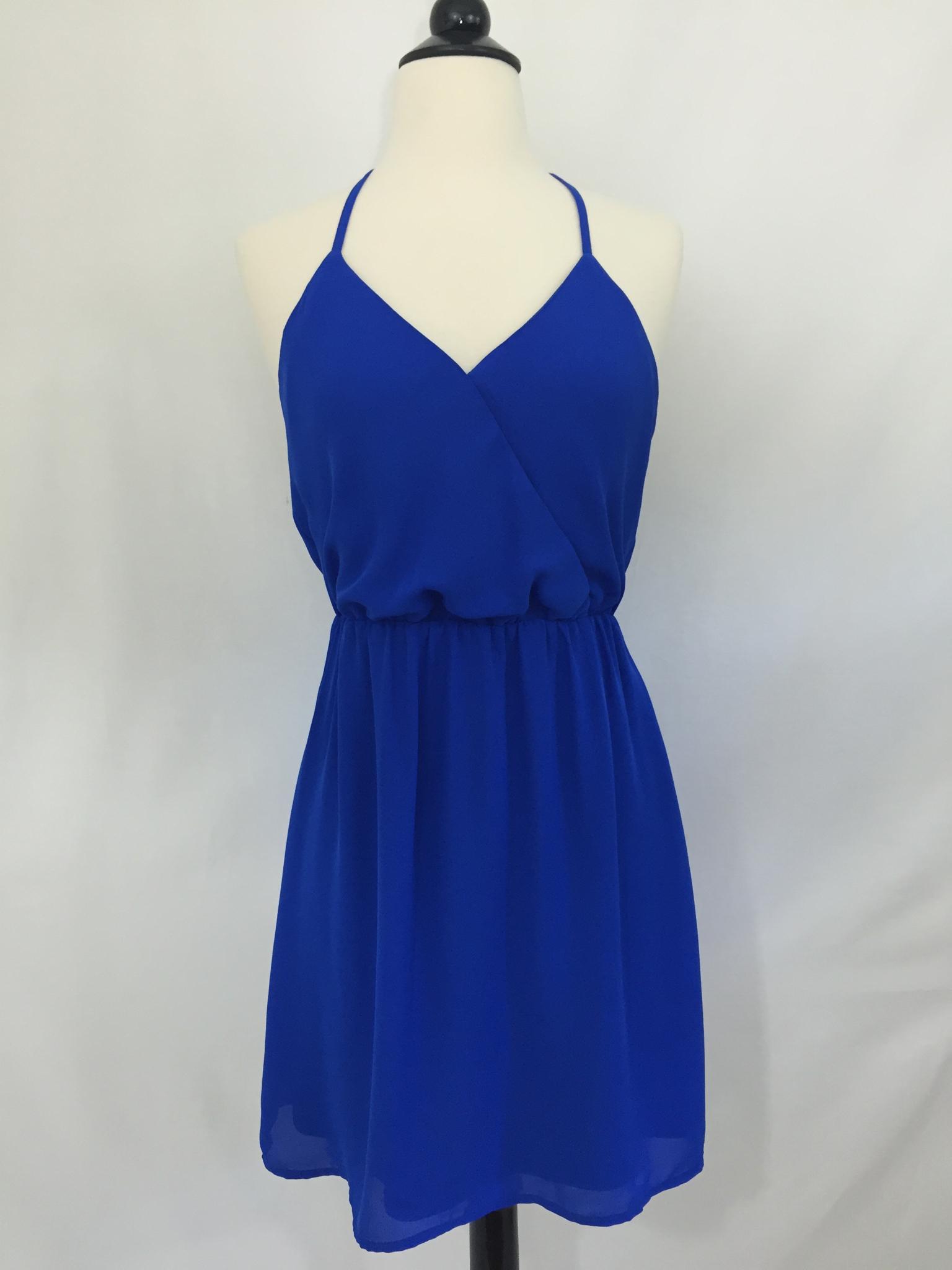 Blue tea dress