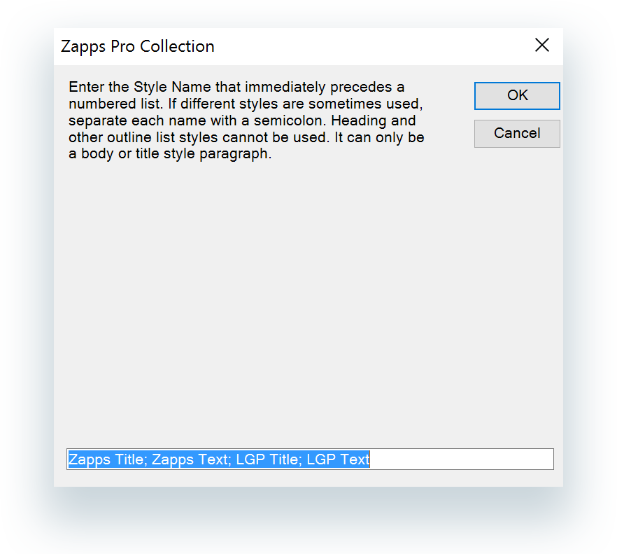 Link to New Lists dialog box on The Collection ribbon