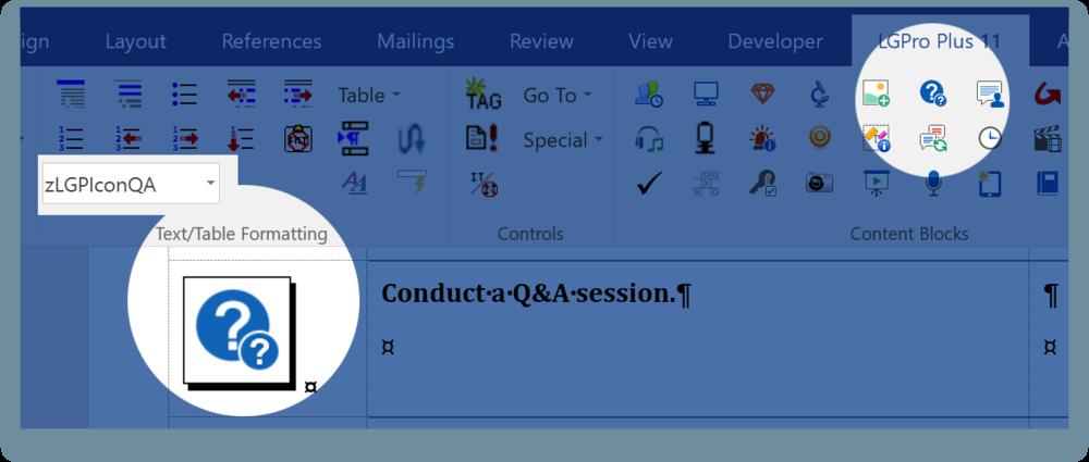 Example of QA Icon style