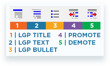 LGP Text Formatting buttons