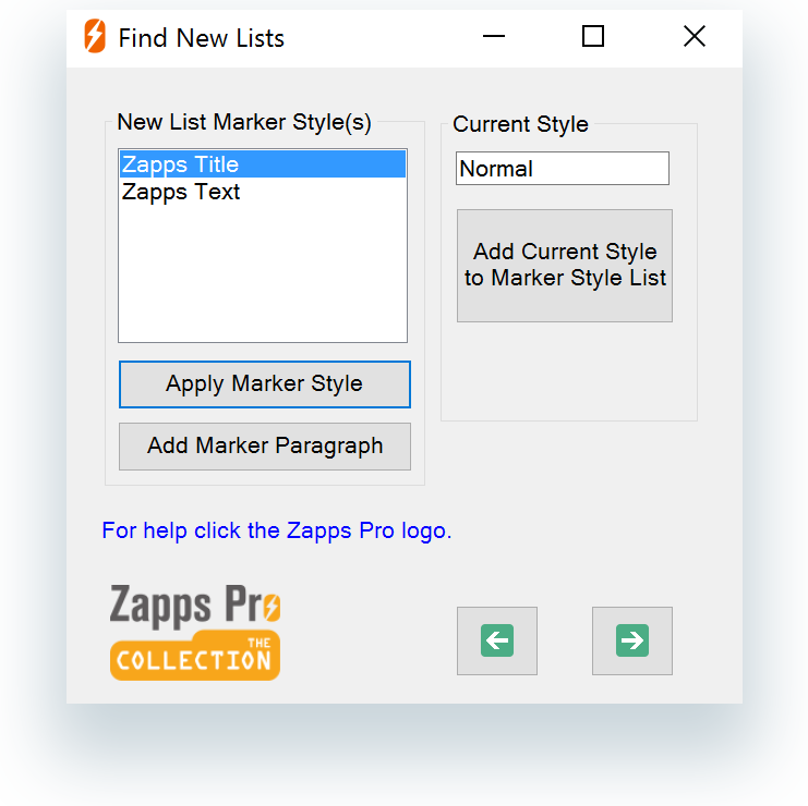 Find New Lists dialog box