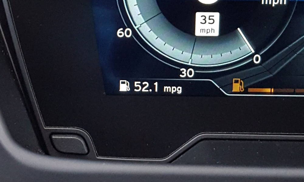My current average fuel economy as per the on-board computer after 500 miles in the i8
