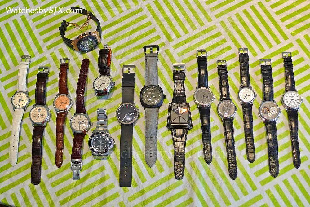 Picture courtesy of www.watchesbysjx.com from a Singapore Collectors' GTG. How about an extremely rare Datograph LE, Patek Minute Repeater, 2 Philippe Dufour Simplicity's, and a Kari Voutilainen Observatoir just for starters. Better taste in watches than tablecloths.