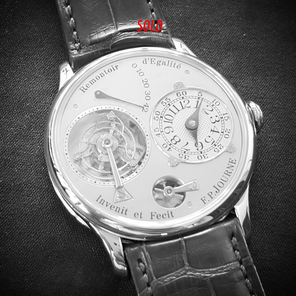 This FP Journe Tourbillon sold to a very lucky collector recently