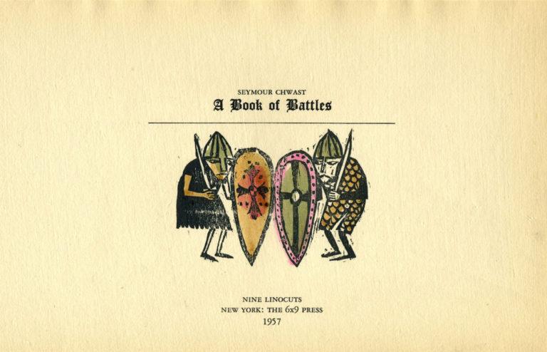 'A Book of Battles,' Seymour Chwast's first antiwar book (1957) (© Seymour Chwast)