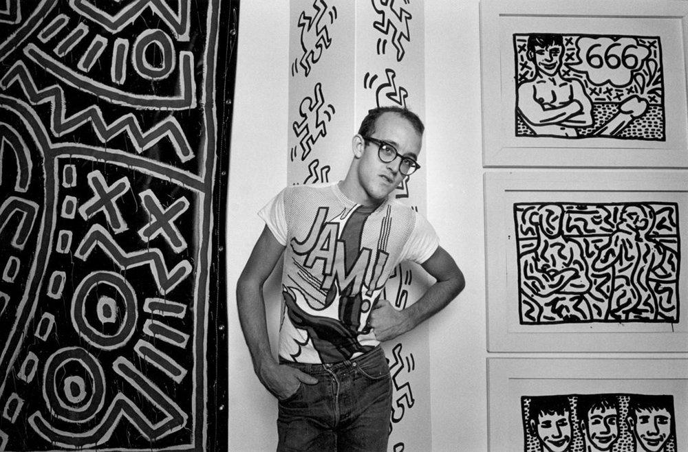 eith Haring, 1982© Harvey Stein