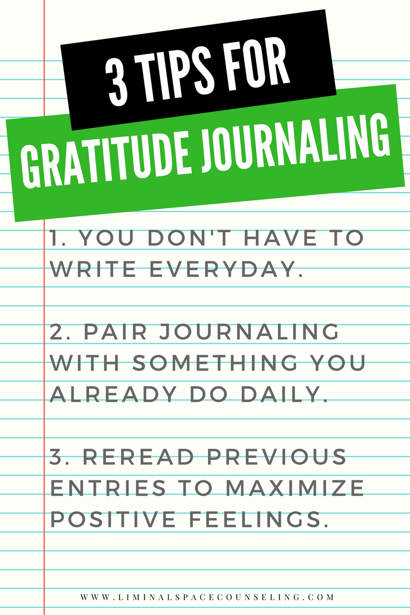 gratitude journaling thanksgiving