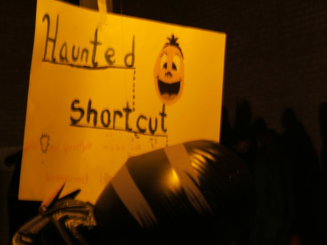 This way to the Haunted Shortcut