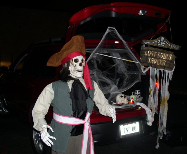 Winner, Best Trunk Decorations, Lost Souls Tavern and Sam the Singing Skeleton