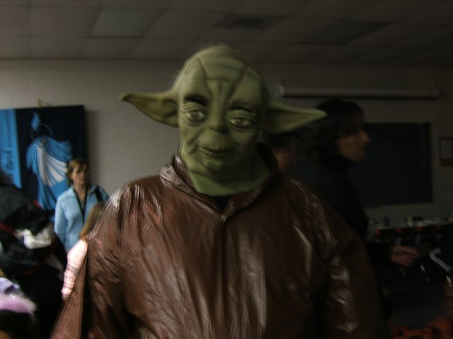 Yoda, partying down!