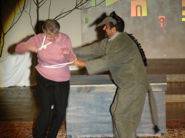 Monsign'eeor' Joe dancing with his mother