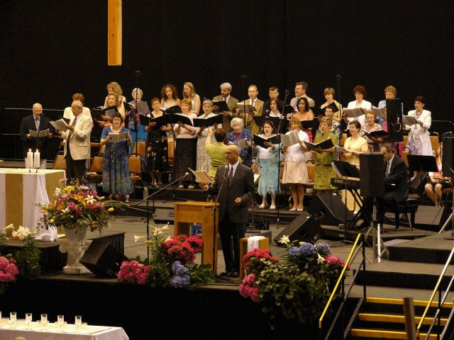 "Ed and the choir sing, ""We Will Want No More"", a musical vision of our life in heaven."