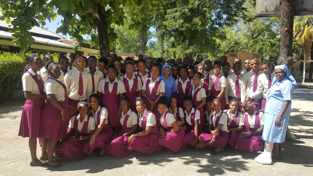Third Year Students at the Papaye Normal School, 2018-2019. Photo courtesy of Richard Joseph.