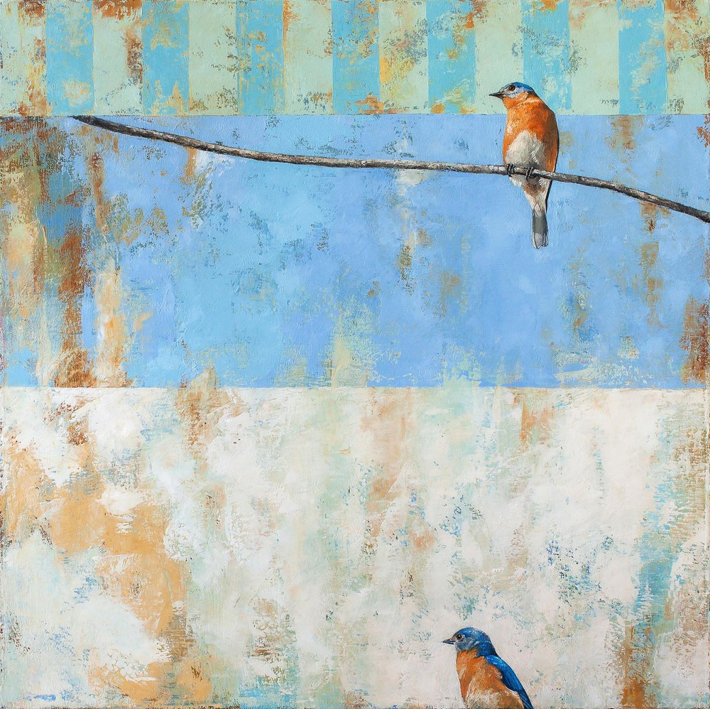 Bluebird, Bluebird   2013 oil on canvas 30 x 30 inches  Private collection