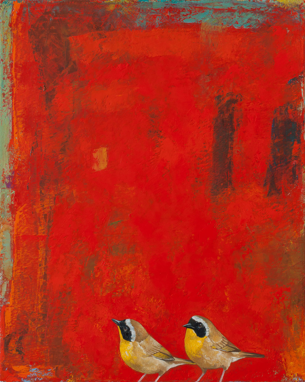 Two by Two   2013 oil on panel 20 x 16 inches  Private collection