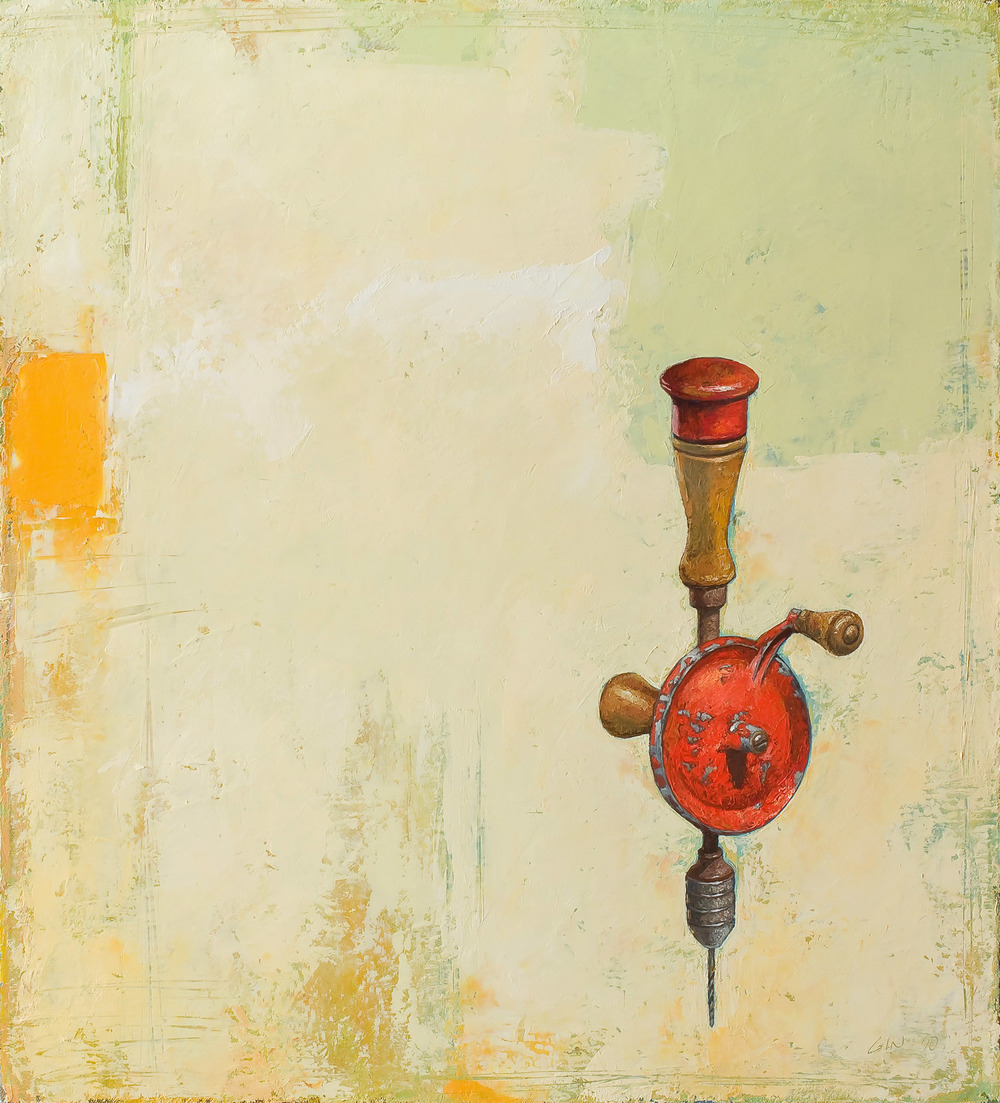 Drill   2010 oil on canvas 22 x 20 inches  Private collection