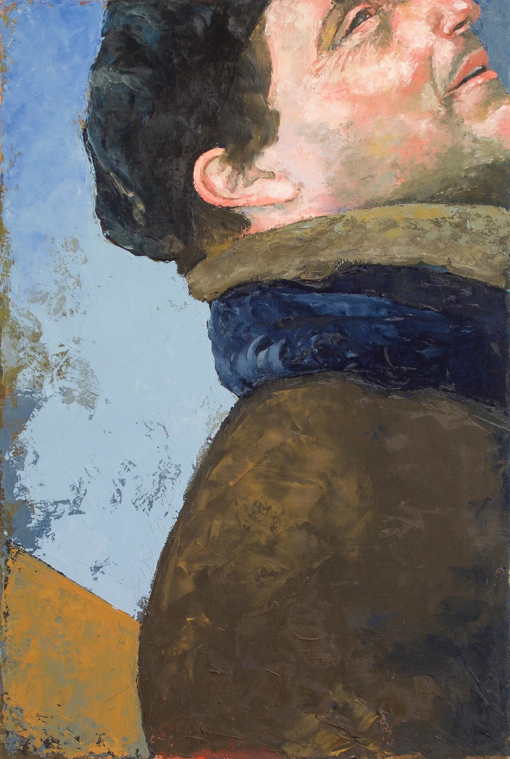 Man in Beret   2003 oil on canvas 24 x 16 inches  Private collection
