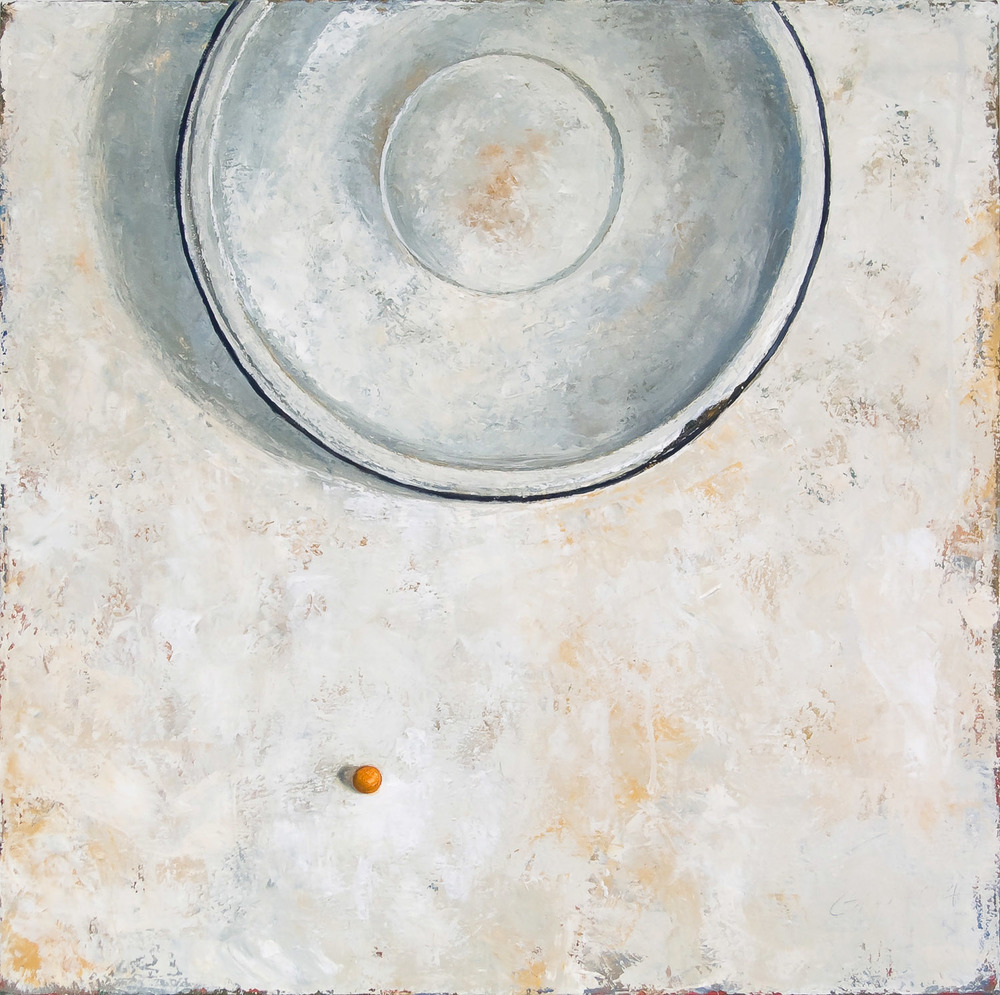 "Marble and Basin  2004 oil on canvas 24"" x 24""  Private collection"