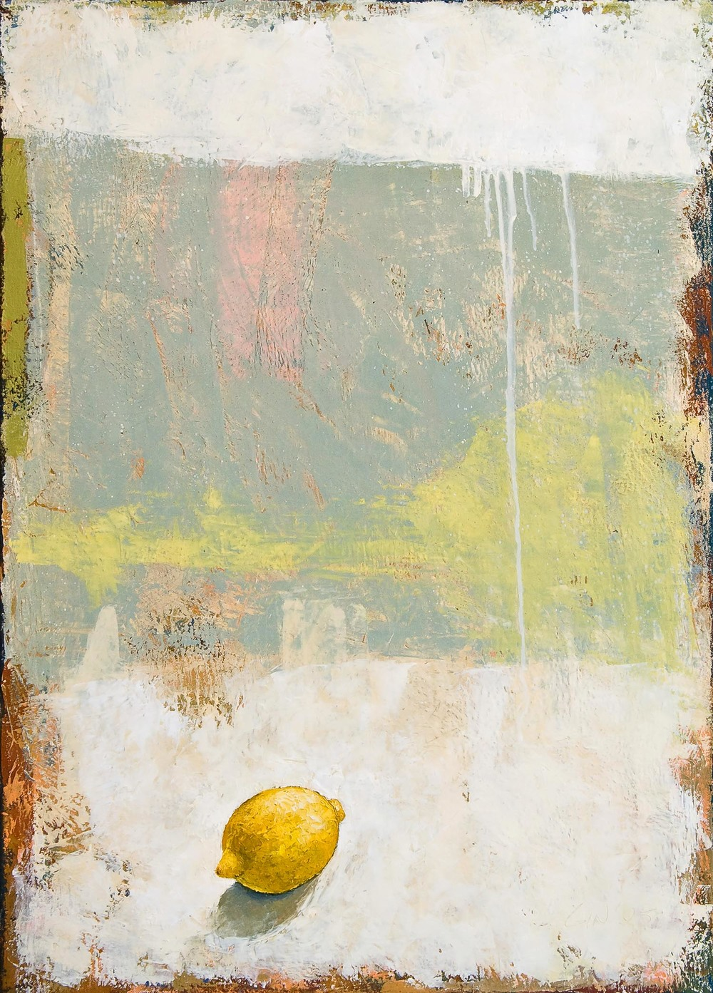 "Just One Lemon  2005 oil on canvas 28"" x 20""  Private collection"