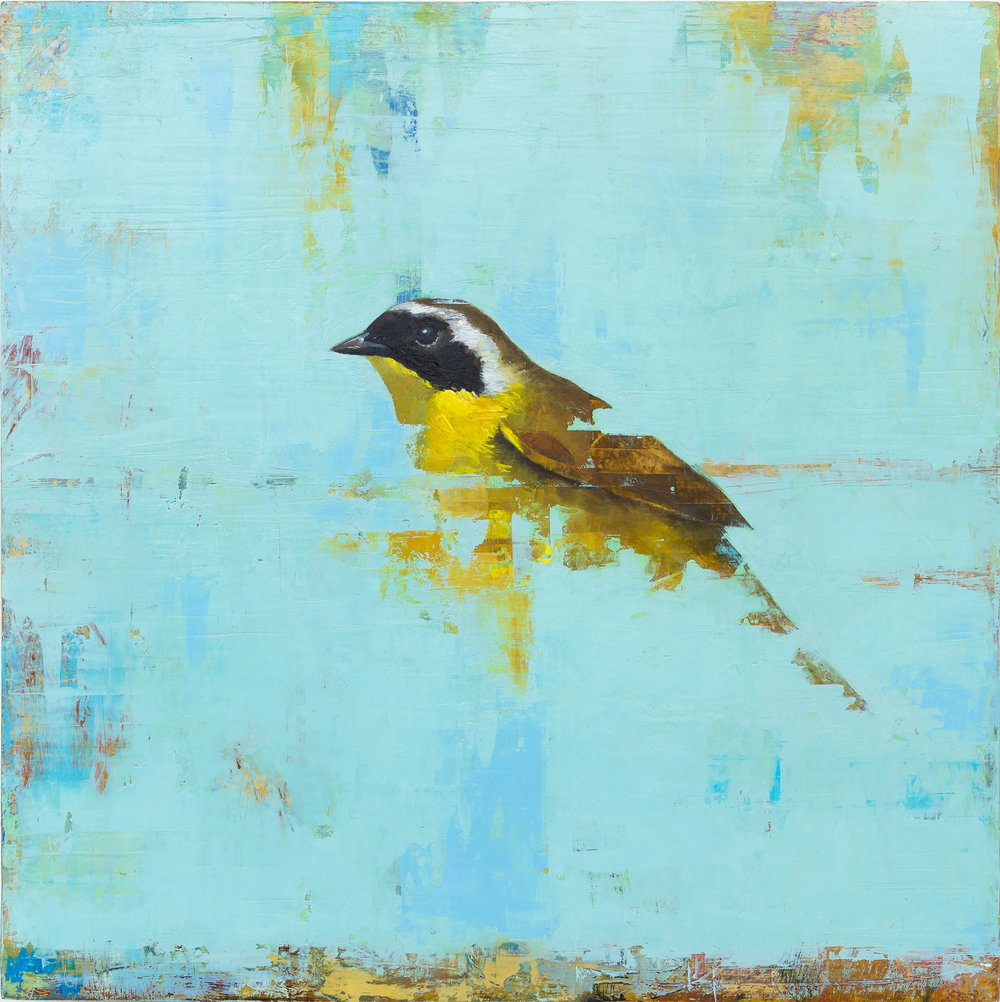 Common Yellowthroat  2018 oil on panel 10 x 10 inches  Sold