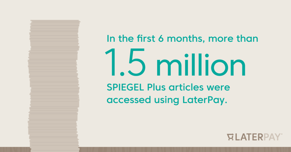 In the first 6 months, more than 1.5 million SPIEGEL Plus articles were accessed using LaterPay.