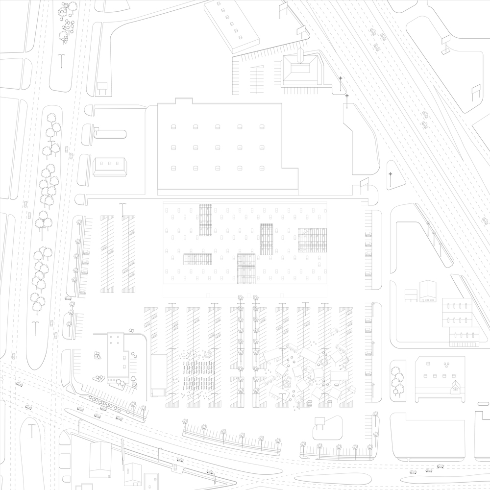 Axonometric view of the site