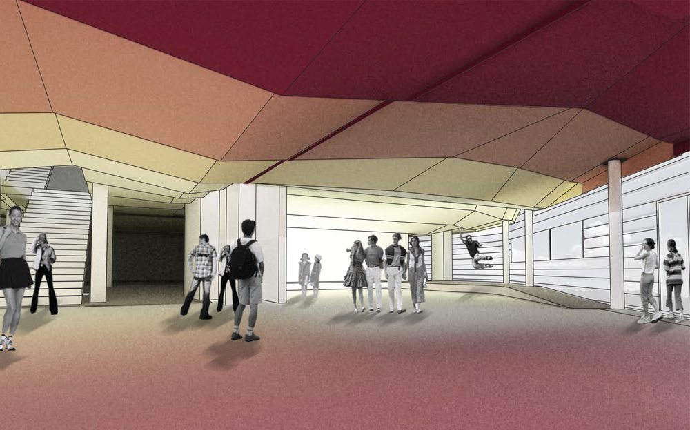 Rendering of the entrance area
