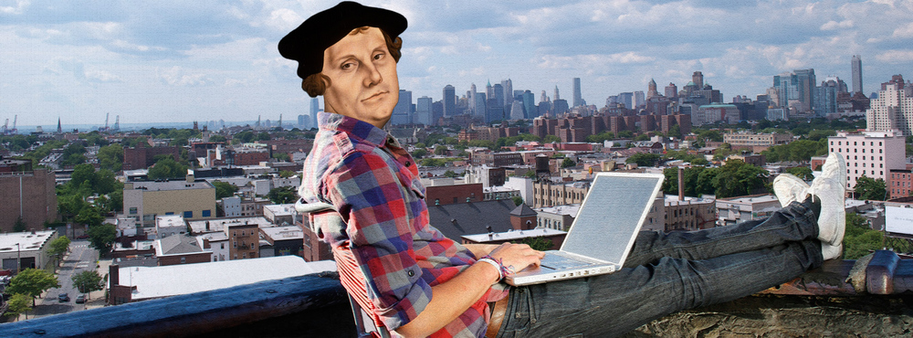 Martin Luther, This Week's Contributing writer, kickin' it on his building'srooftop in brooklyn.