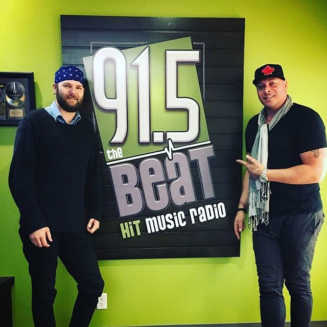 @culprits.music finished up day five of their Ontario radio tour today at @915theBeat with a live interview. Show Culprits support by giving them a follow and listening to their track Mary Mary. #radiotour #newsingle #newmusic #kitchener #ontario #OnTheAir