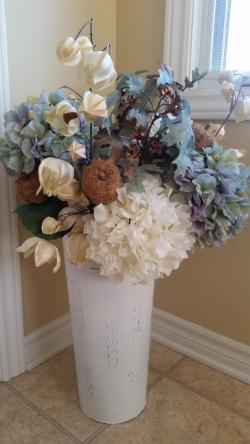 Hydrangeas & Oak Leaves & Pumpkins.jpg