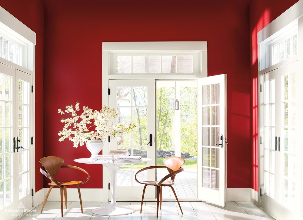 Benjamin Moore Colour of the Year 2018 - Caliente AF-290