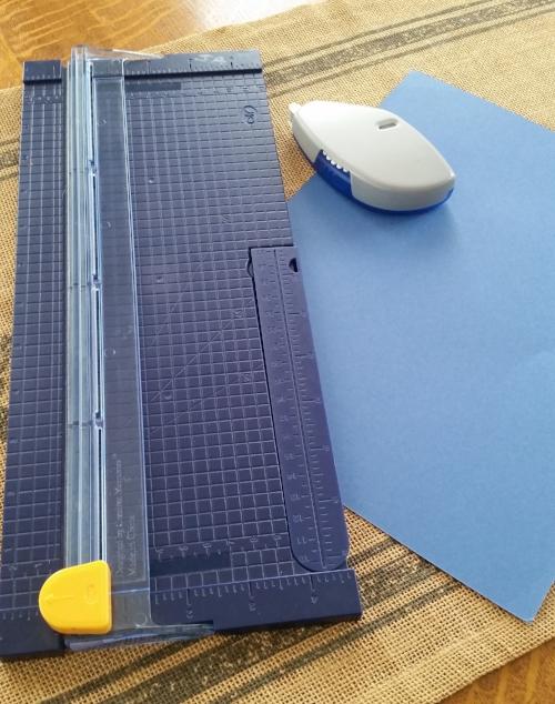 Paper Trimmer & Blue Paper.jpg