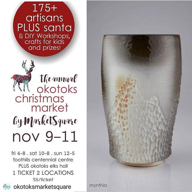 Starting the Christmas Market season off with a bang! Here at the @okotoksmarketsquare Centennial Location now through Sunday! . . . . . #yycartist  #shoplocalyyc  #albertamade #okotoks #okotoksevents #403  #madeincanada