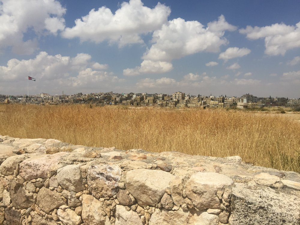 A view from the Citadel in Amman, occupied since the Neolithic and with ruins from the Roman, Byzantine, and Umayyad periods.