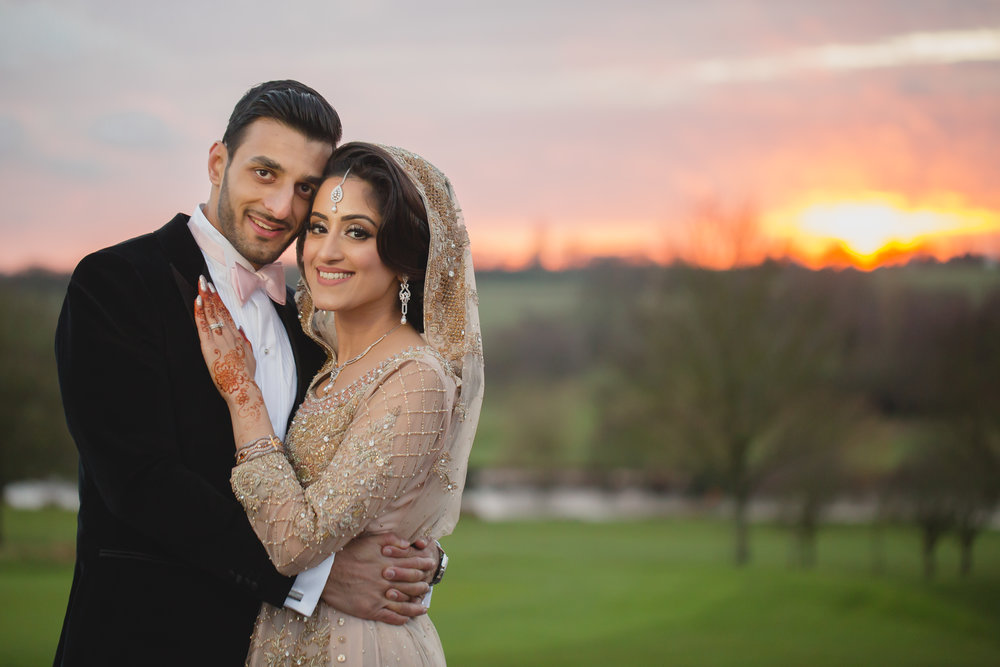 pakistani couple walima portrait