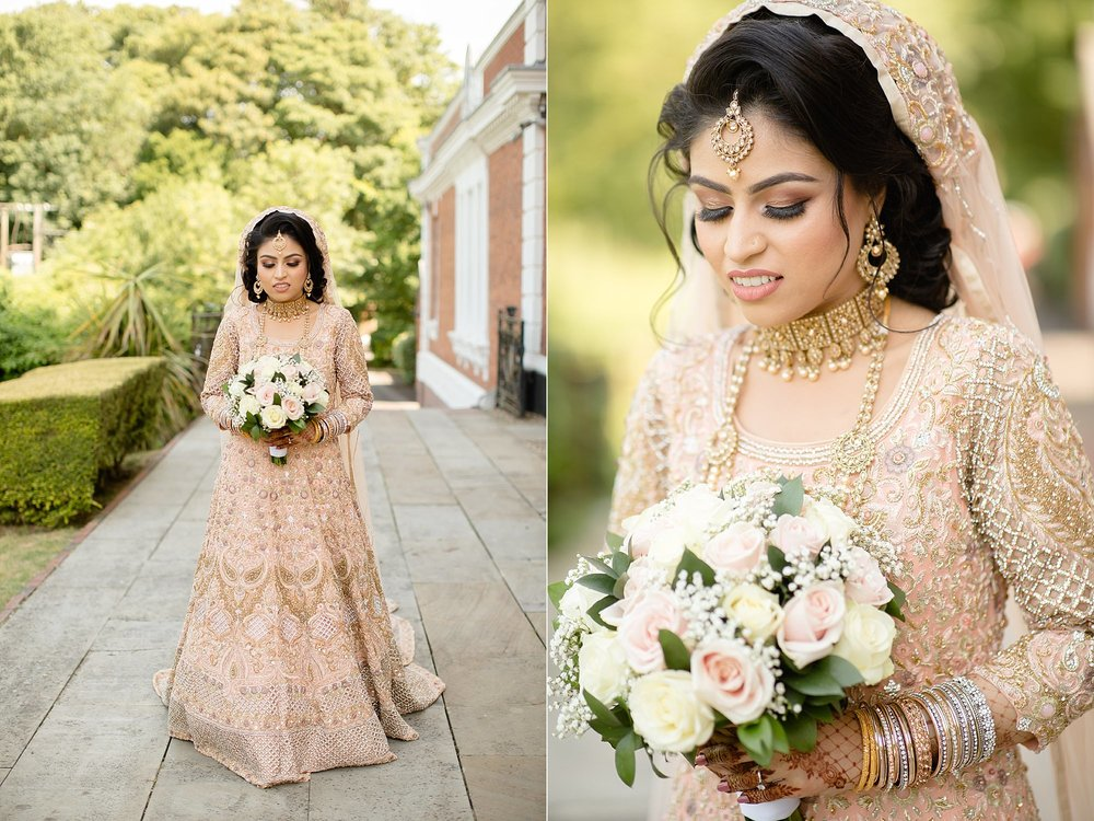 Bangali bride portraits at Hilton Hall Wolverhampton