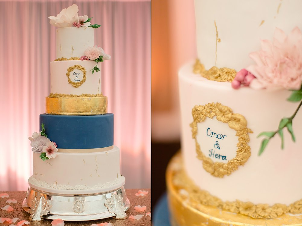Pakistani wedding cake photography at Wroxhall Abbey Coventry