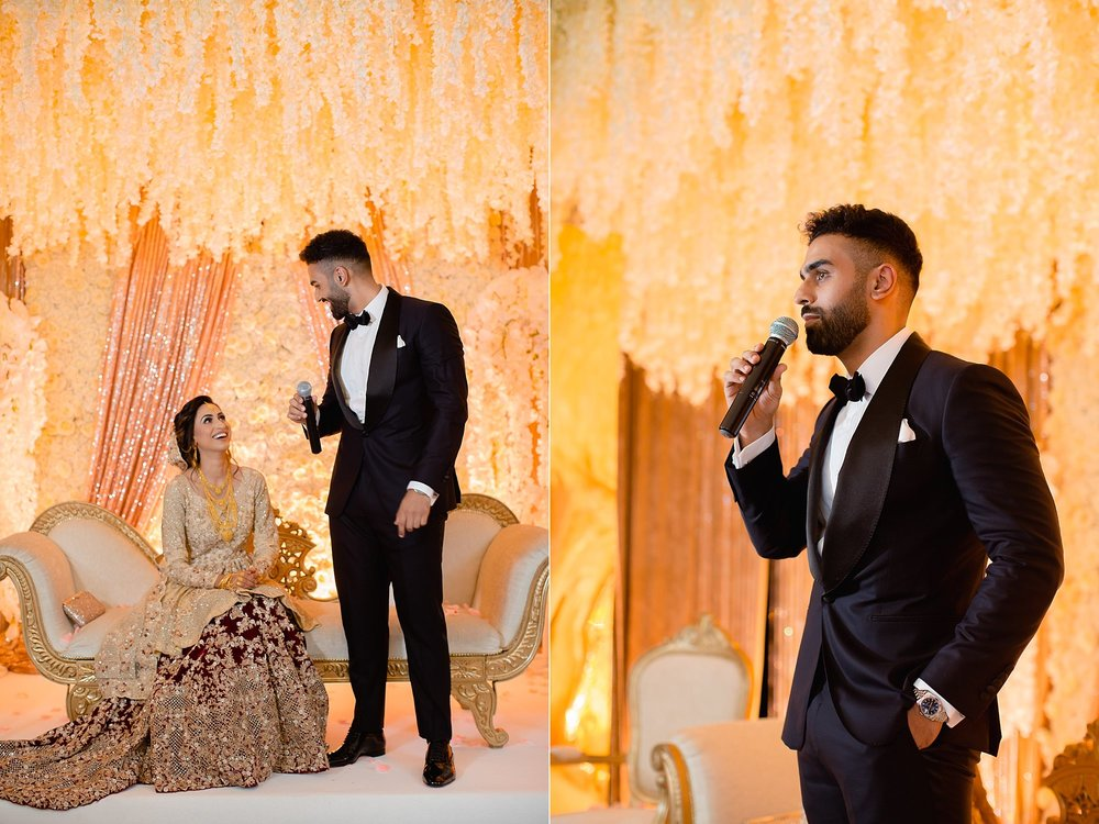 Pakistani Groom walima speech at Wroxhall Abbey Coventry