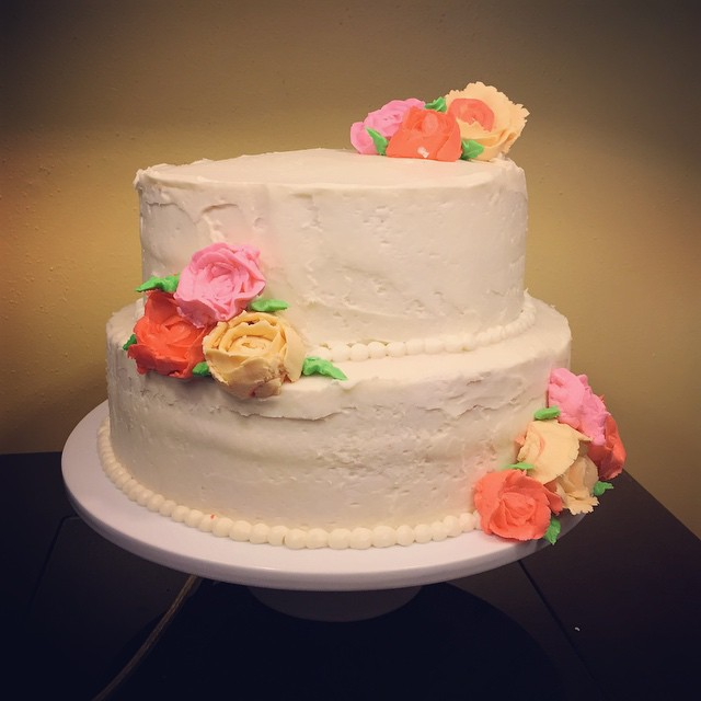 Simple Wedding Cake