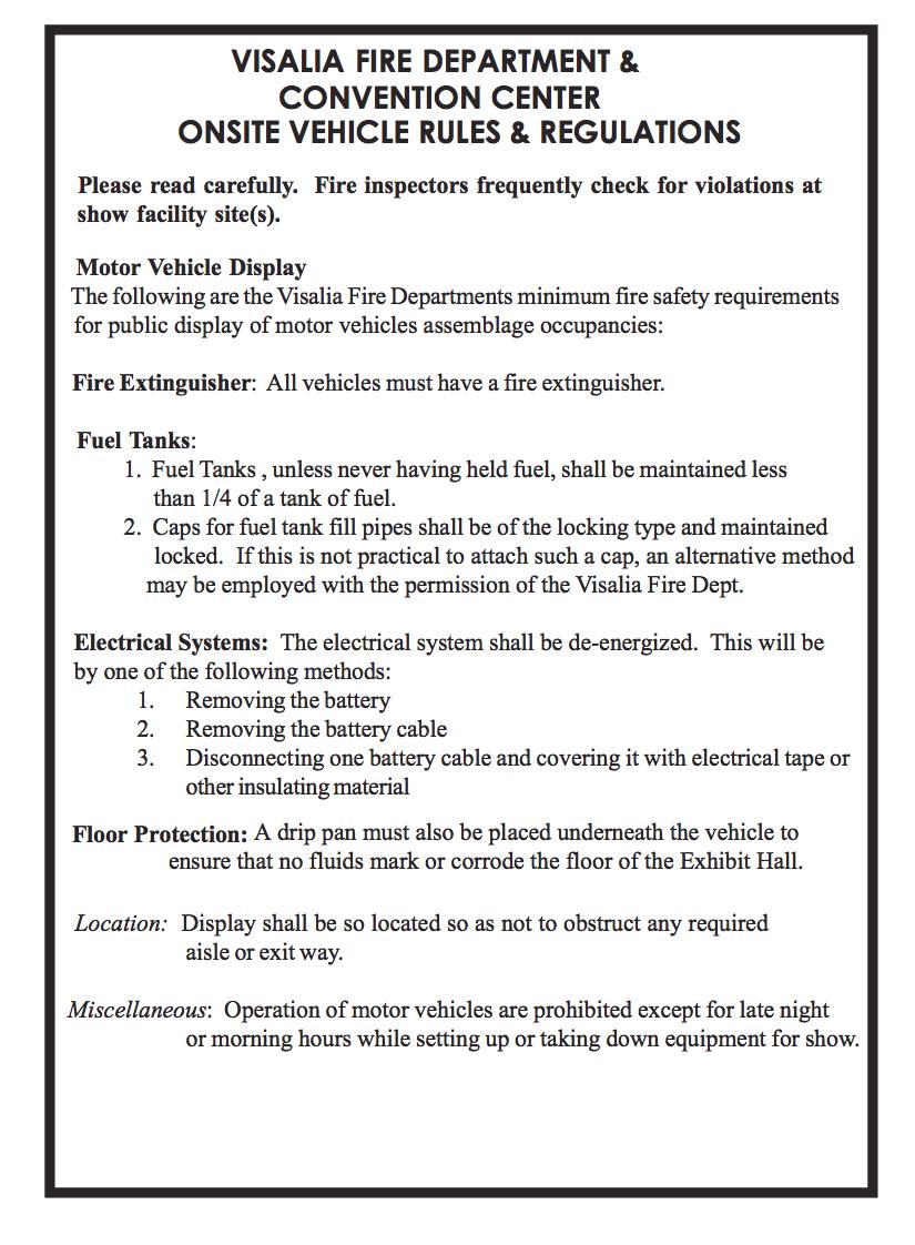 Exhibitor Manual & Forms — Visalia Home Shows