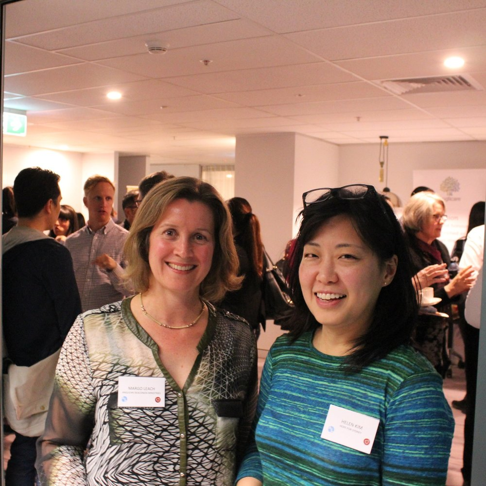 Margo Leach, Director of Mercy & Justice Ministries at ADM (left) and Helen Kim, Executive Director of Hope For Sydney.
