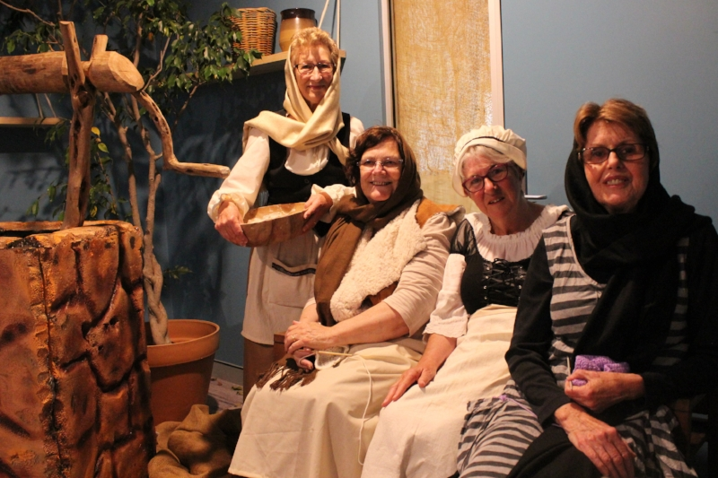 Mary Andrews College students as medieval peasant women