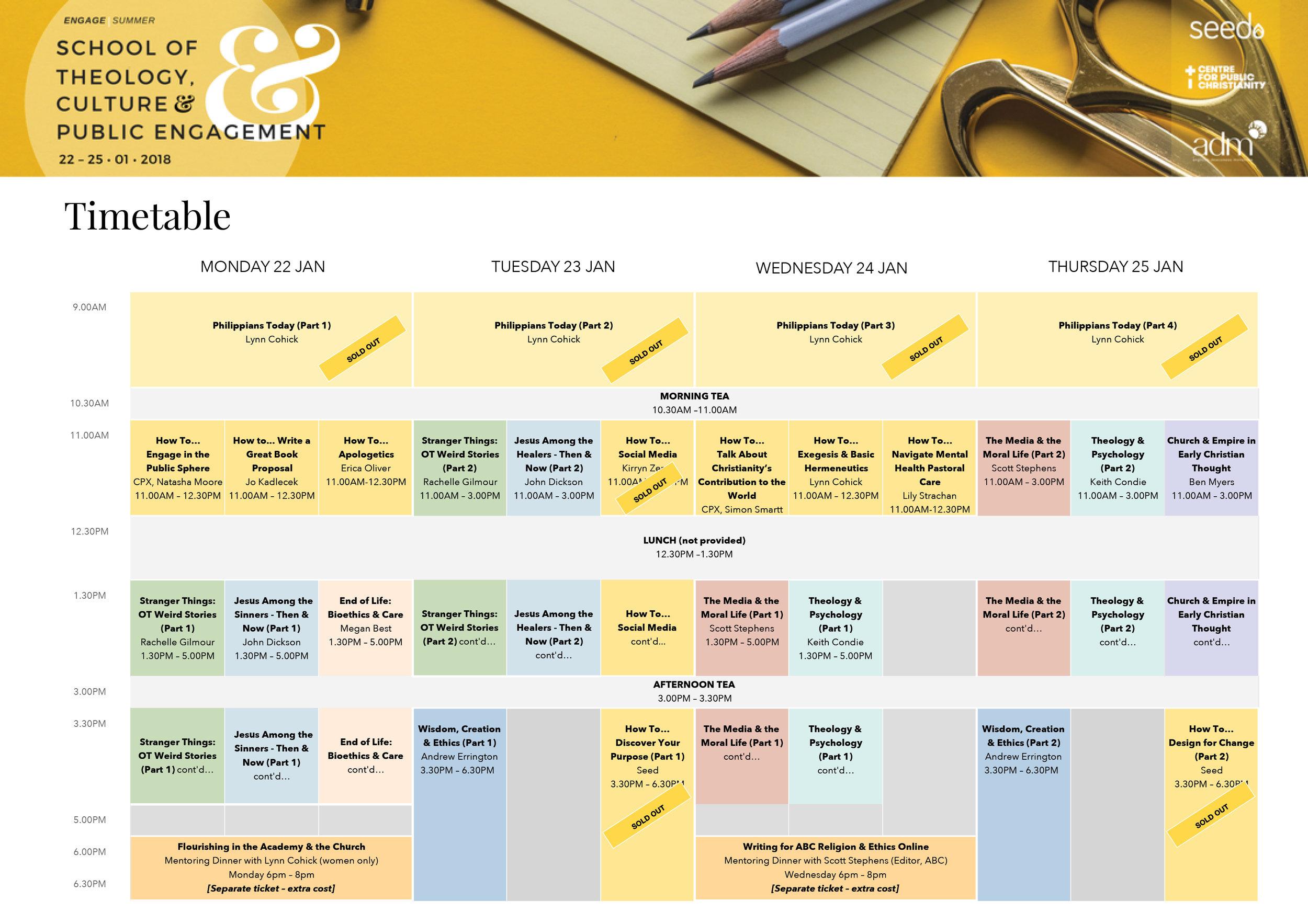 STCPE Timetable