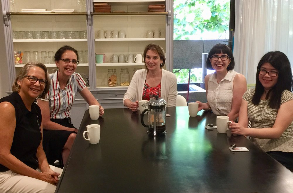 Our ADM Summer Fellows (left to right): Jo Kadlecek, Robyn Wrigley-Carr, Lyn Kidson, Brooke Scriven and Christine Poon.