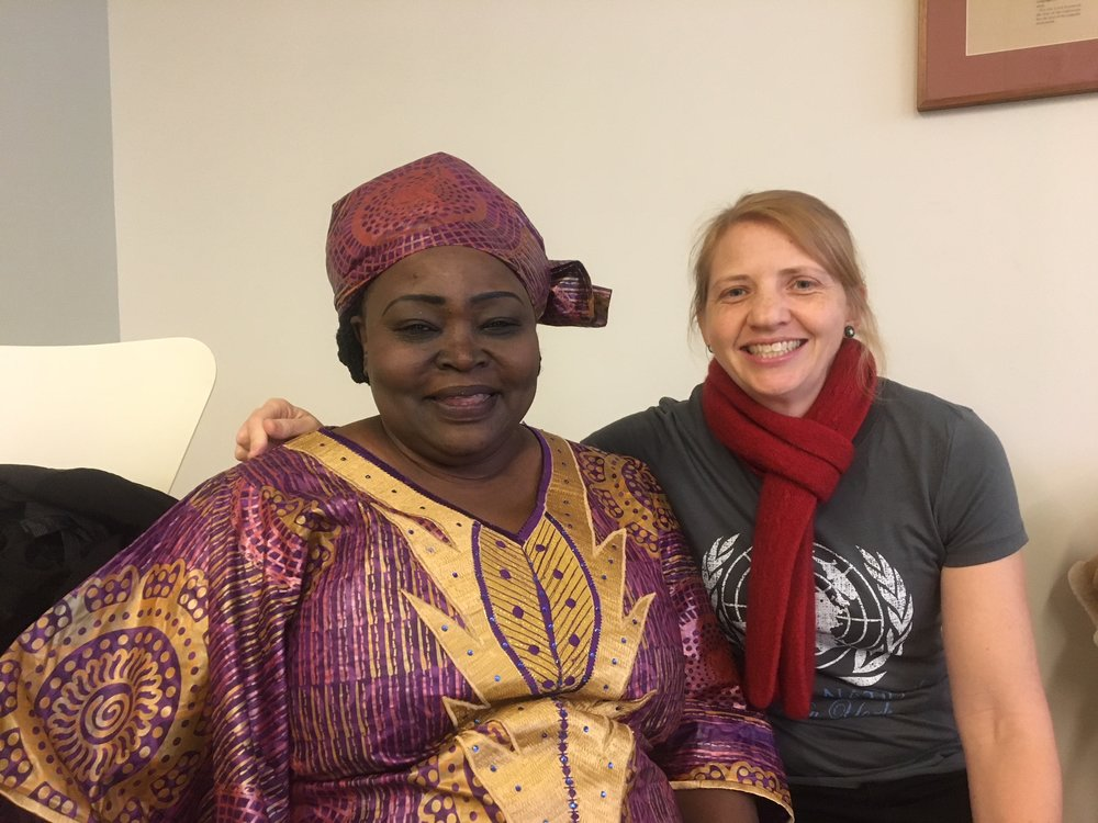 Ruth with with the Anglican delegate from north Sudan