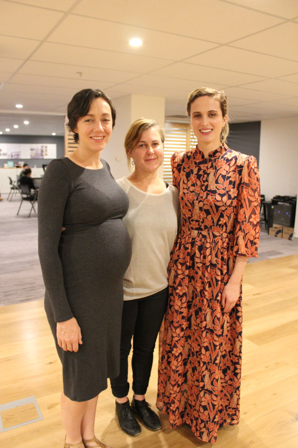 Jen (right) with fellow creatives Esther Neate (left) and Jo Chew (centre) at the March 2019 Engage Evening Session