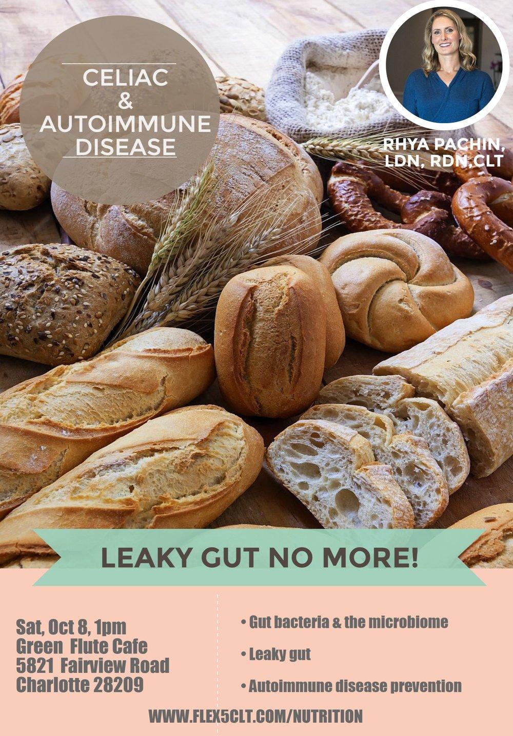 Flex5-Autoimmune-Leaky-Gut-Workshop-Glutne-Free-Poster-Uptown-Charlotte-NC