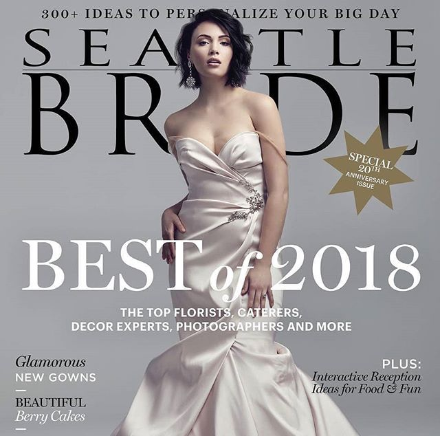 So excited to be featured in @seattlebridemag for the gorgeous wedding of @tarynrachellee and  @tsoushek! If you haven't picked up your copy you definitely should head out there and grab one to check out all the beautiful details.  #seattleweddings #seattle #seattlebride #weddinggown